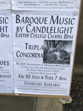 Concert placard
