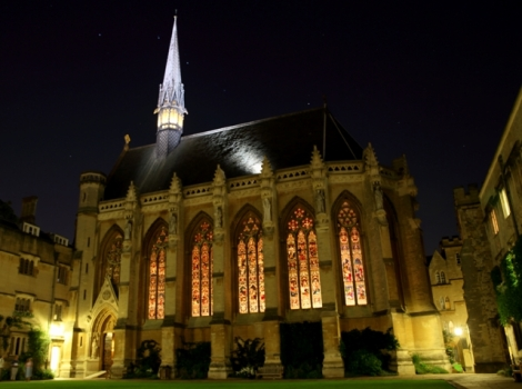 Exeter College Chapel at Night