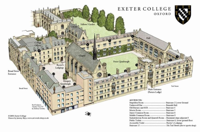 Exeter-College-Map